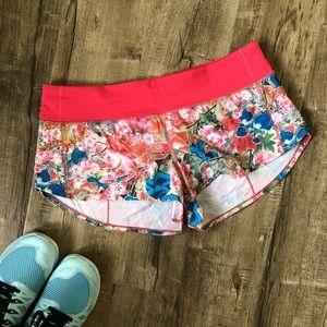 Lululemon Speed Up Seawheeze Floral Shorts 10